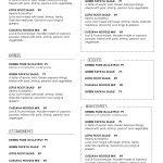 Free Printable Restaurant Menu Templates Printables And   Mysembalun   Free Printable Restaurant Menu Templates