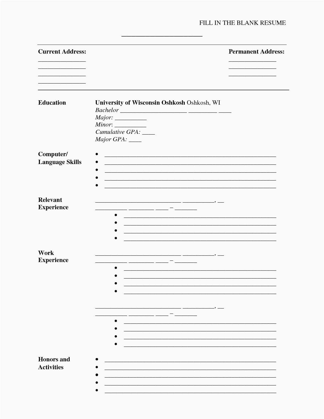 Free Printable Resume Template Inspirational 30 Free Microsoft Word - Free Printable Resume Templates Microsoft Word