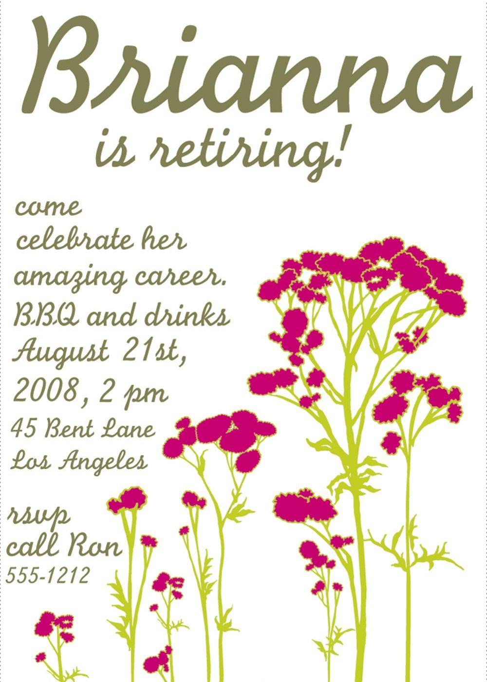Free Printable Retirement Party Invitations Templates | Betsy's - Free Printable Retirement Party Invitations