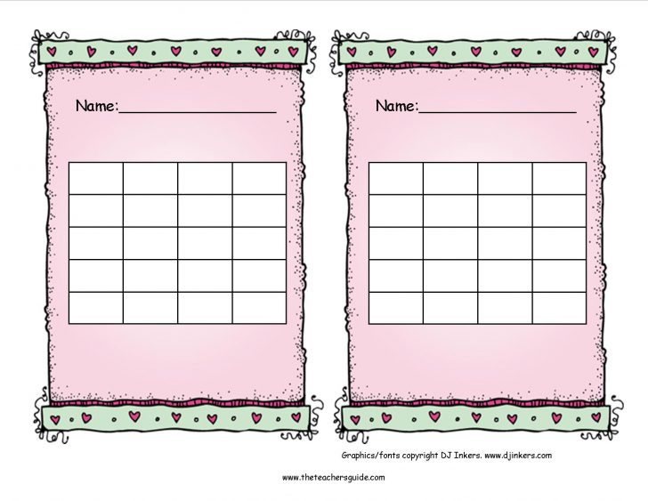 Free Printable Charts For Teachers