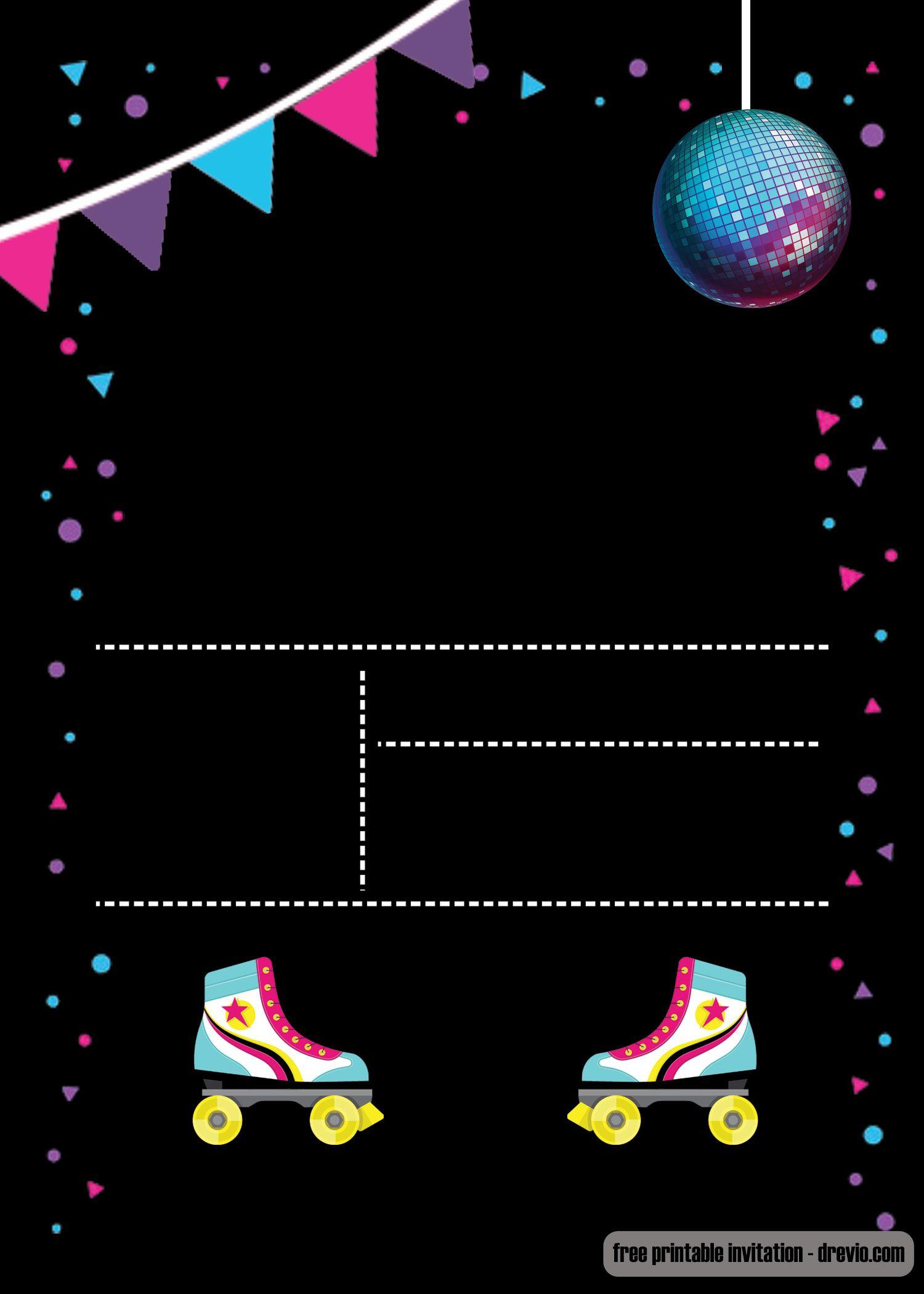 Free Printable Roller Skating Invitation | Invites | Pinterest - Free Printable Skating Invitations