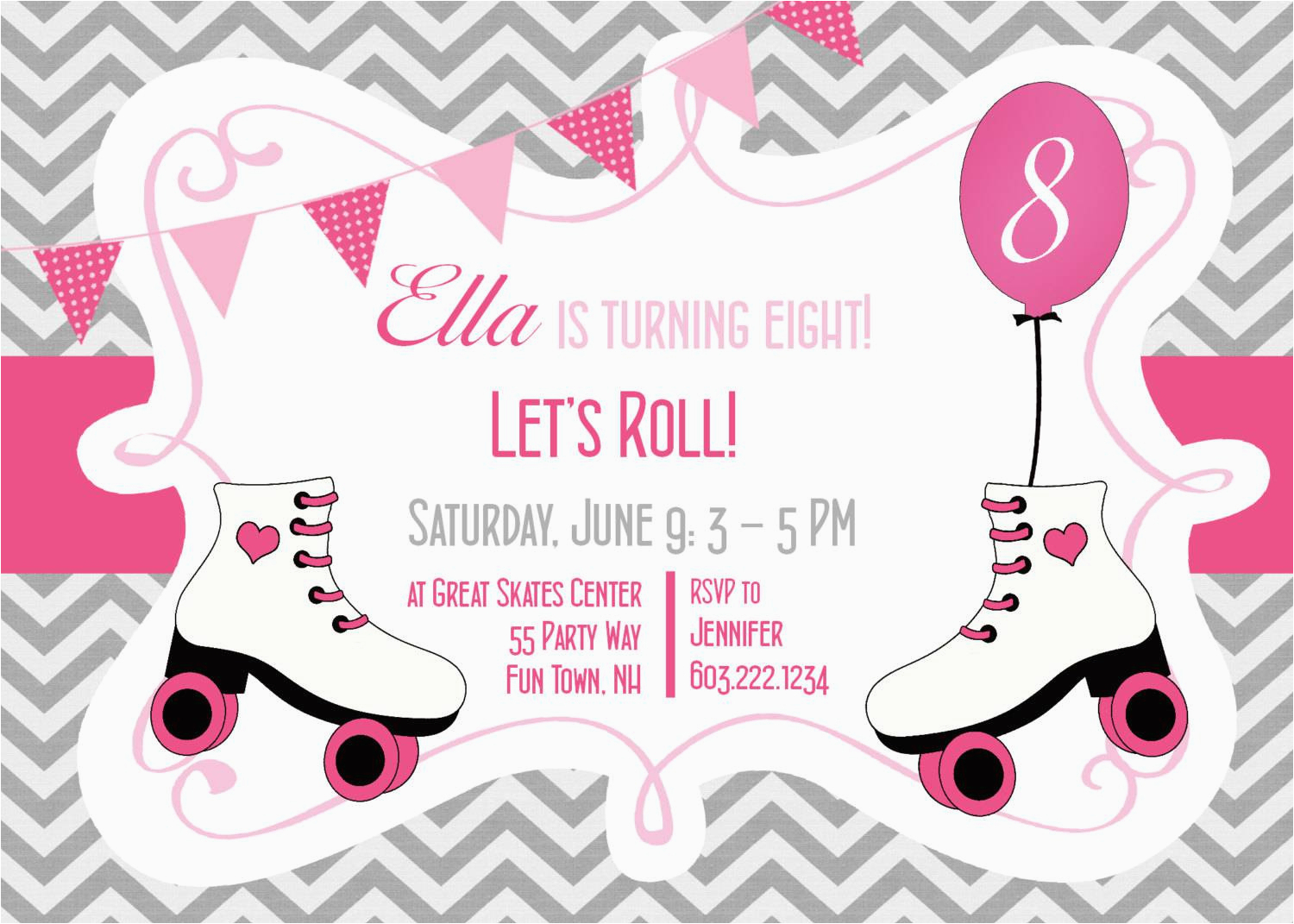 Free Printable Roller Skating Party Invitations - Roller Skate - Free Printable Roller Skate Template