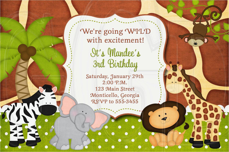 Free Printable Safari Birthday Invitations | Birthdaybuzz - Jungle Theme Birthday Invitations Free Printable