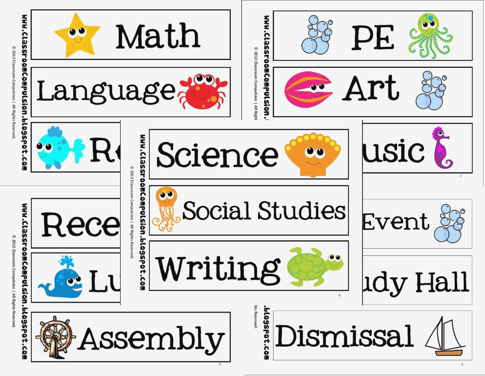 Free Printable School Subject Labels School Subject Labels Classroom - Free Printable Classroom Labels With Pictures