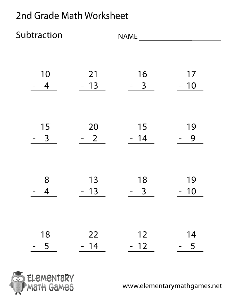 Free Printable Second Grade Math Worksheets To Download - Math - Free Printable Second Grade Math Worksheets