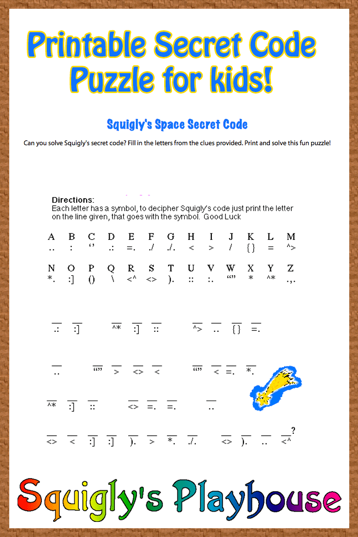 Free Printable Secret Code Word Puzzle For Kids. This Puzzle Has A - Free Word Search With Hidden Message Printable