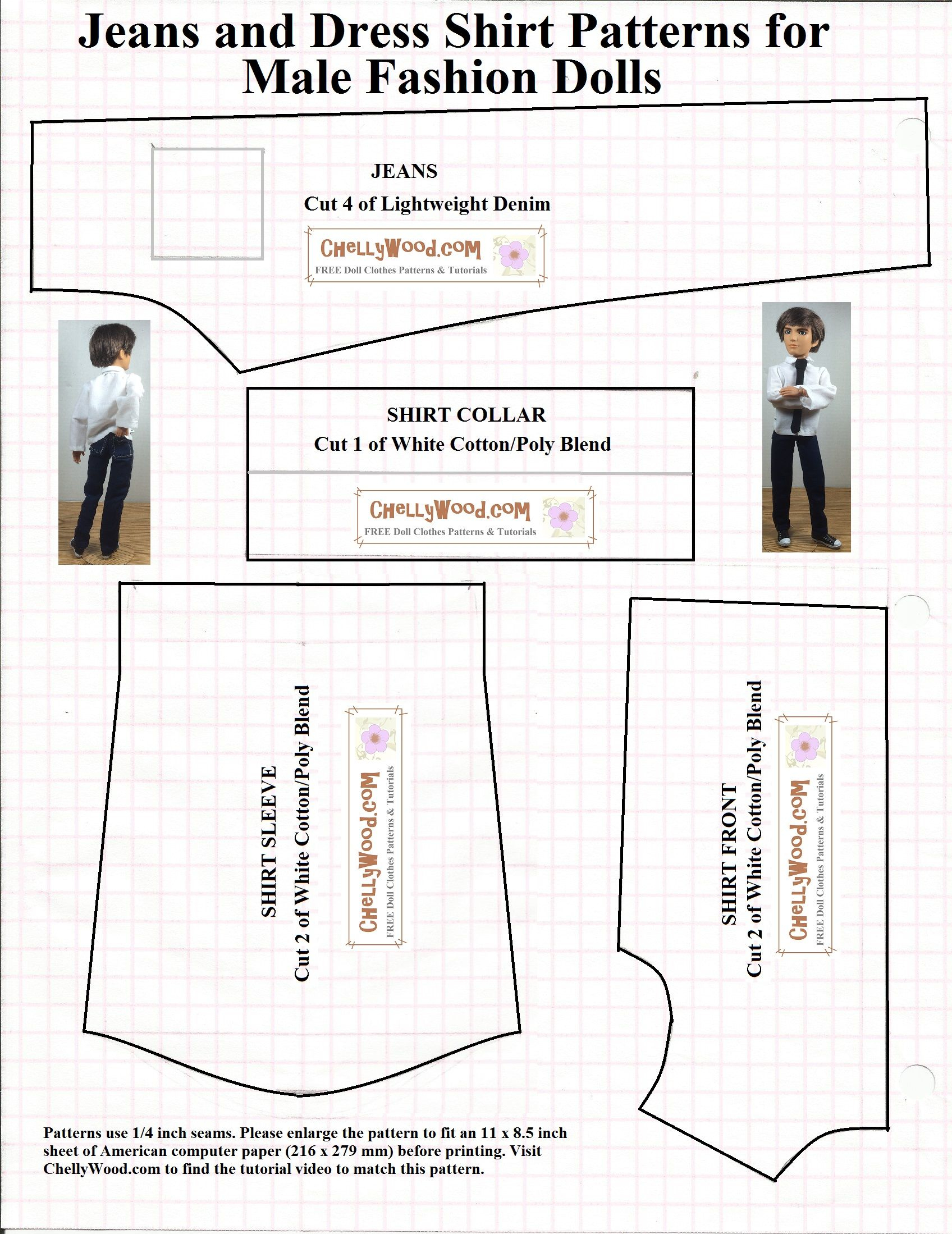 Free Printable Sewing Patterns For Dolls Of Many Shapes And Sizes - Free Printable Sewing Patterns