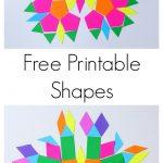Free Printable Shapes For Travel Kit | Formes Geo   Free Printable Shapes