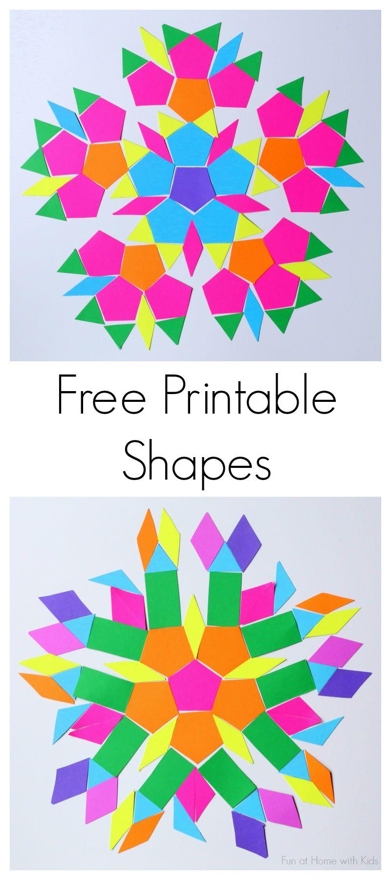Free Printable Shapes For Travel Kit | Formes Geo - Free Printable Shapes