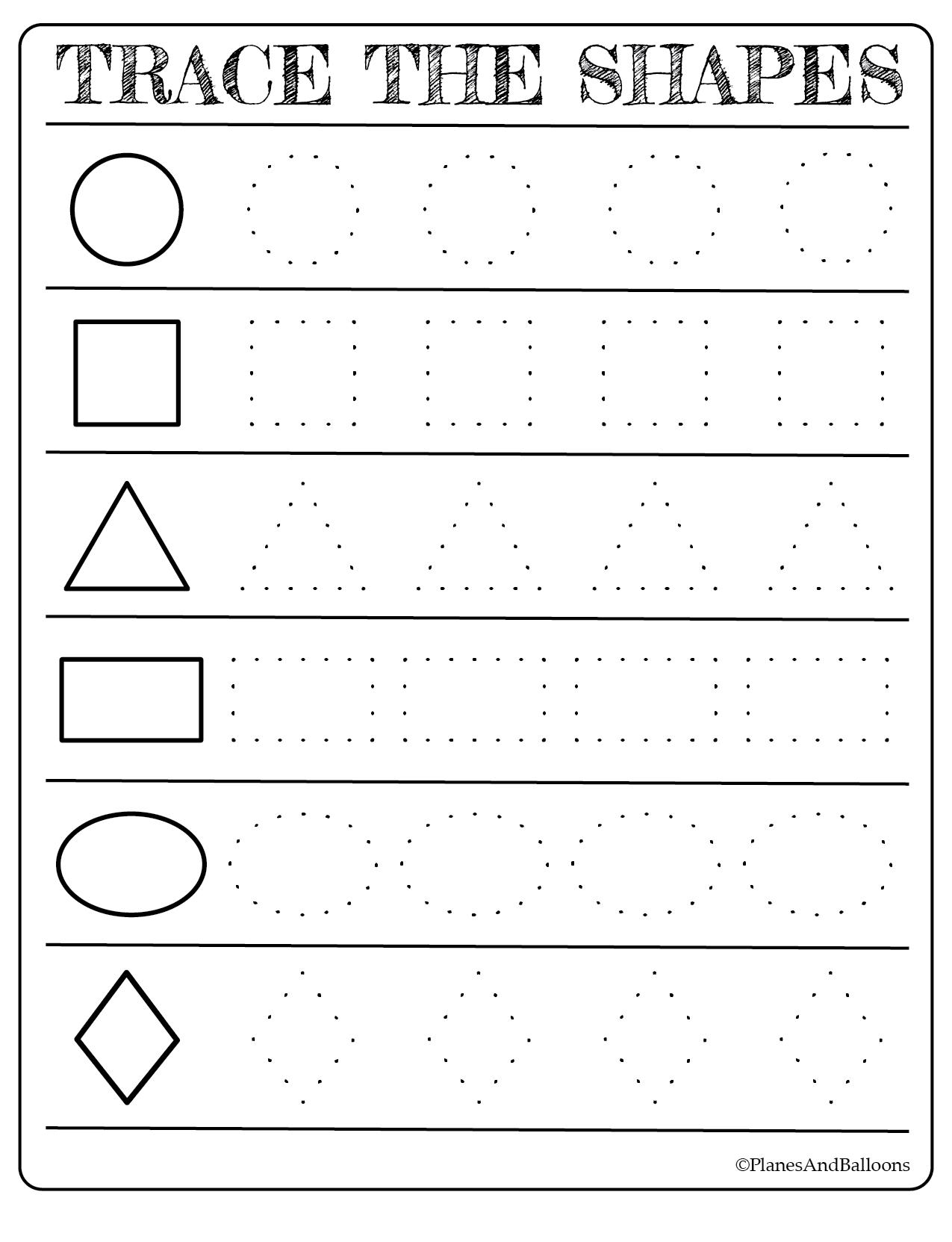Free Printable Shapes Worksheets For Toddlers And Preschoolers | Abc - Free Printable Shapes Worksheets For Kindergarten