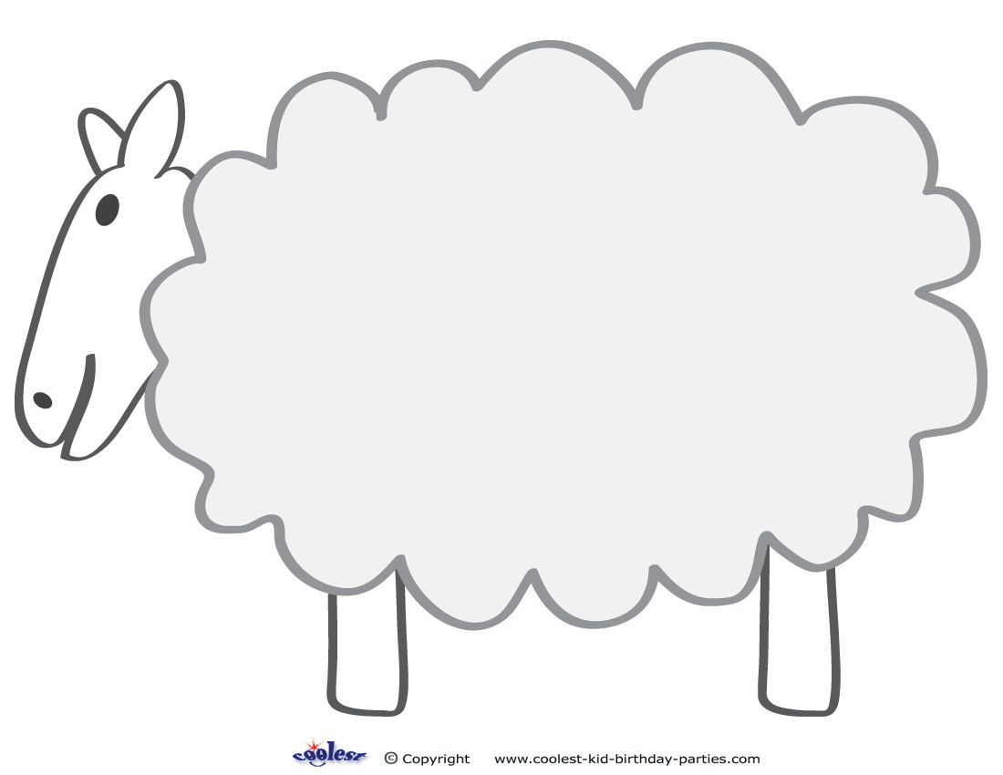 Free Printable Sheep Template   Colors And Things   Pinterest - Free Printable Sheep Mask