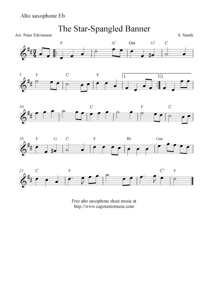 Free Printable Christmas Sheet Music For Alto Saxophone