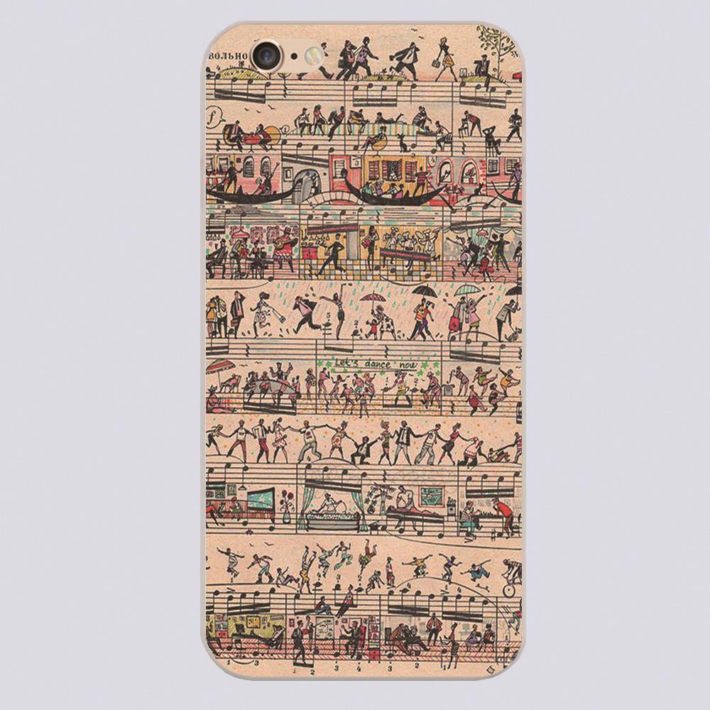 Free Printable Sheet Music With People Design Black Skin Case Cover - Free Printable Iphone Skins