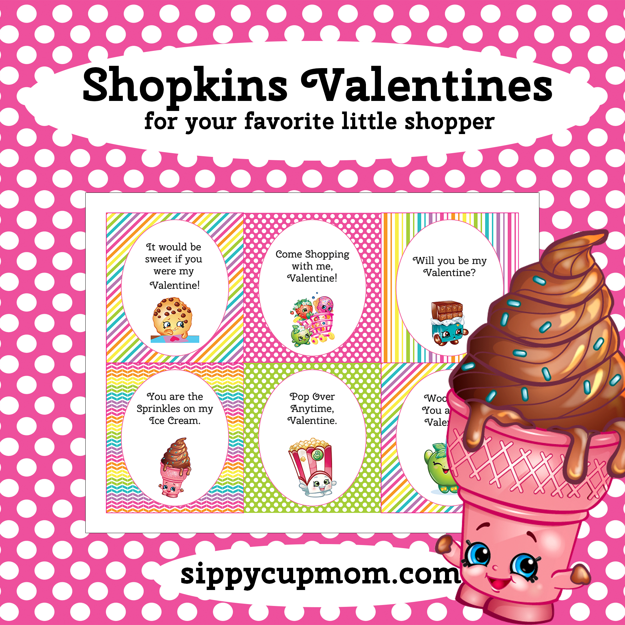 Free Printable Shopkins Valentine's Day Cards - Sippy Cup Mom - Free Printable Valentines Day Cards For Mom And Dad