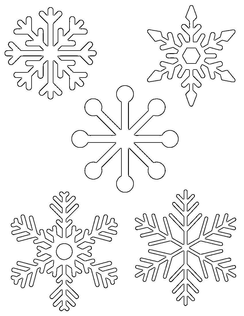 Free Printable Snowflake Templates – Large & Small Stencil Patterns - Free Printable Lace Stencil
