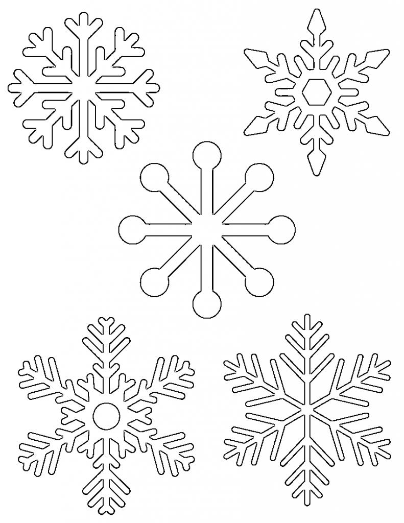 Free Printable Snowflake Templates – Large & Small Stencil Patterns - Free Printable Stencils