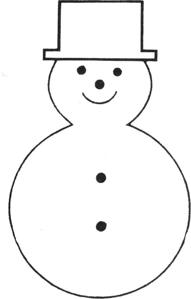 Free Printable Snowman Template | Teaching Ideas | Pinterest - Free Printable Snowman Patterns