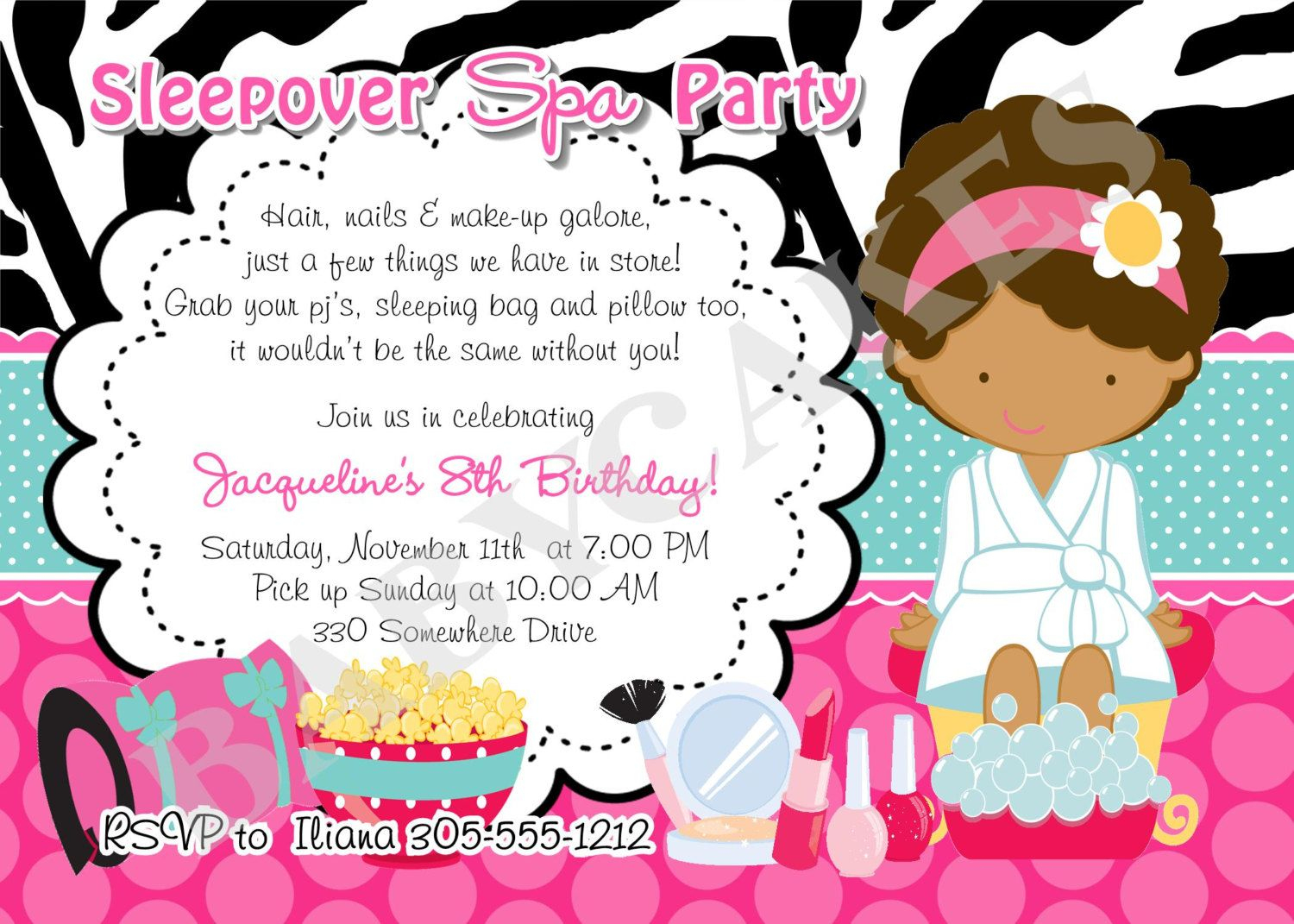 Free Printable Spa Birthday Invitations Excel Free Printable Spa - Free Printable Spa Party Invitations Templates