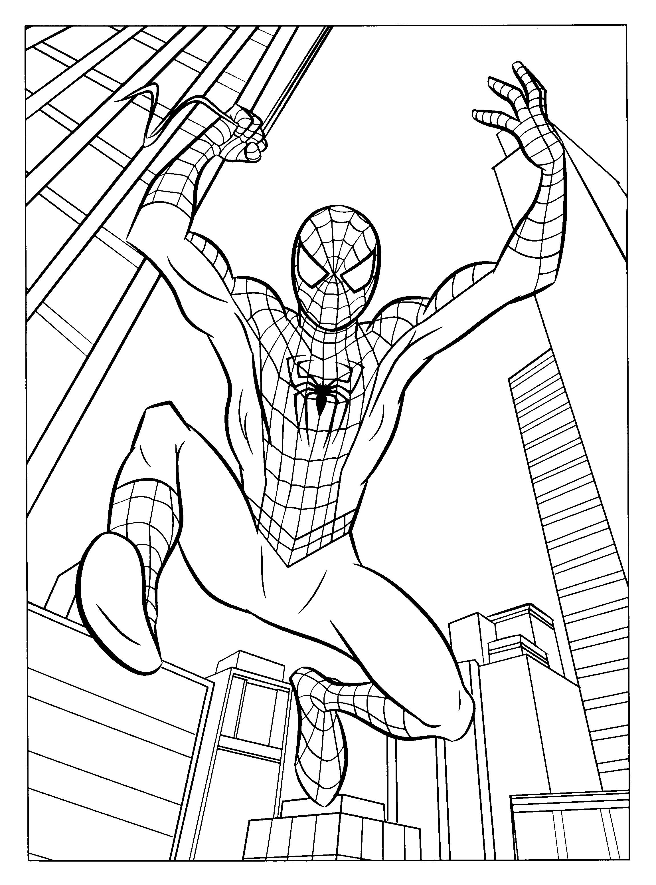 Free Printable Spiderman Coloring Pages For Kids | Noni And - Free Printable Spiderman Coloring Pages