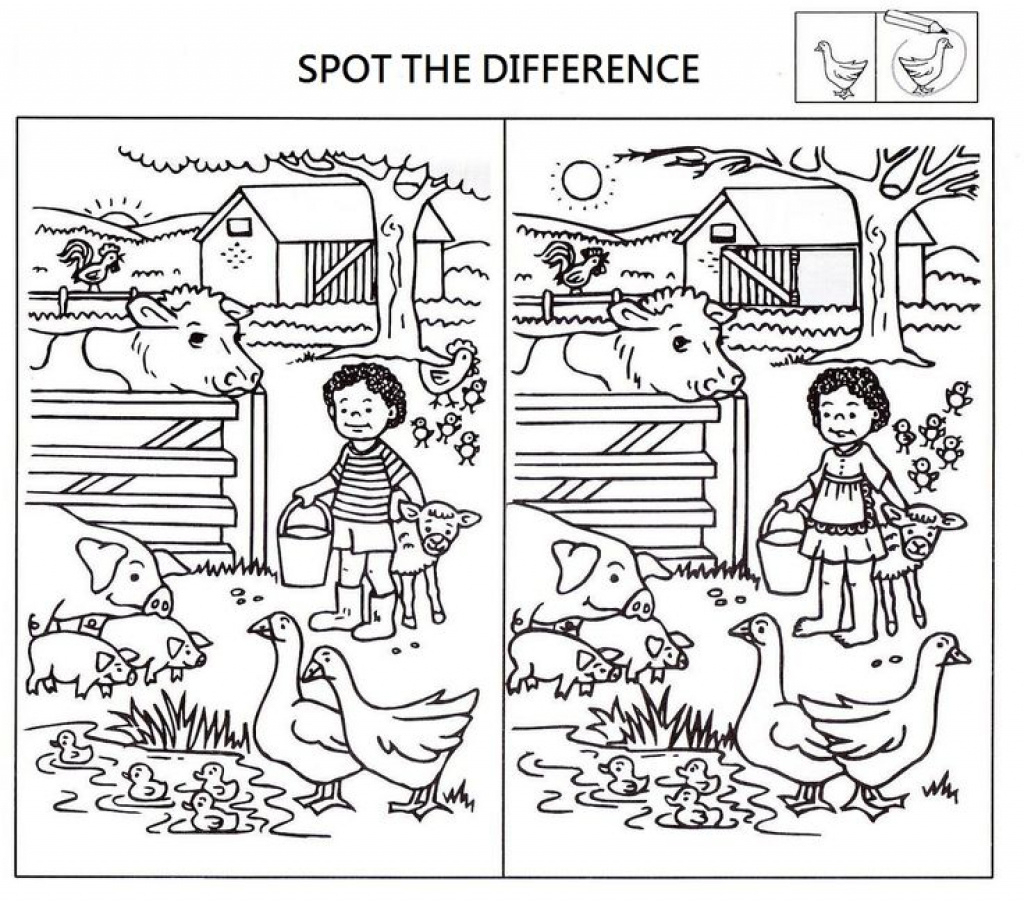 Free Printable Spot The Difference Worksheets | Free Printable - Free Printable Spot The Difference For Kids