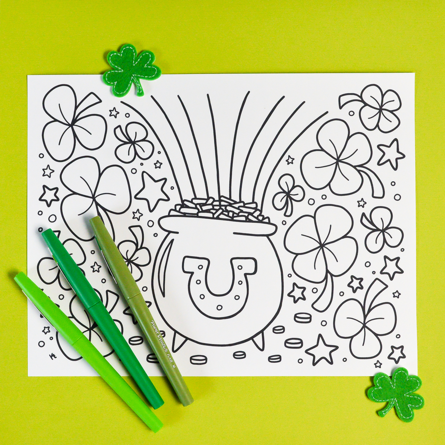 Free Printable St. Patrick's Day Coloring Page - Hey, Let's Make Stuff - Free Printable St Patrick Day Coloring Pages