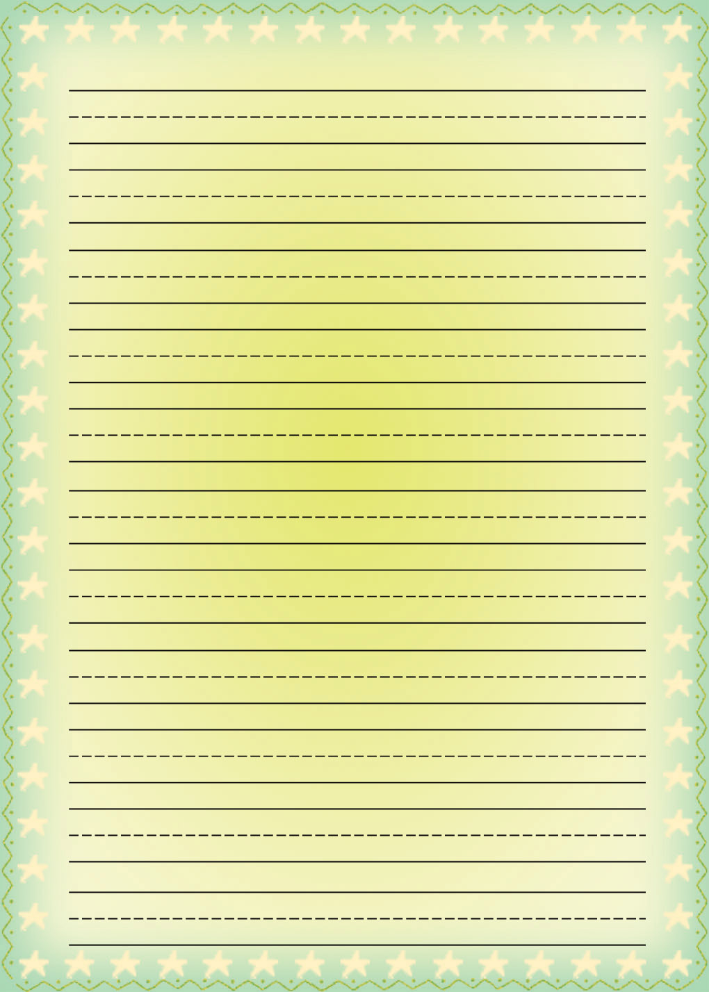 Free Printable Stationery For Kids, Free Lined Kids Writing Paper - Free Printable Lined Stationery