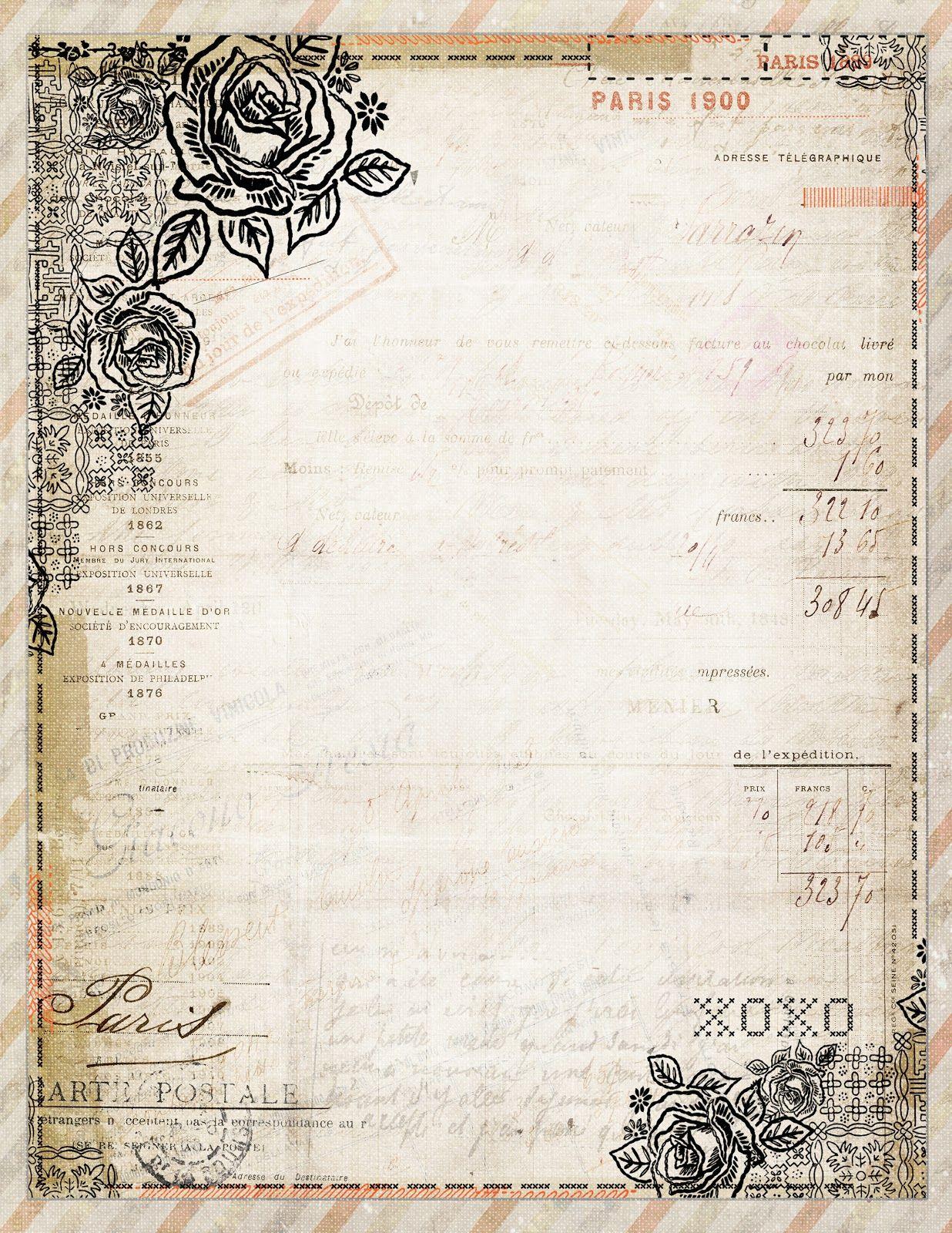 Free Printable Stationery Vintage Backgrounds - 2.12.kaartenstemp.nl • - Free Printable Stationery