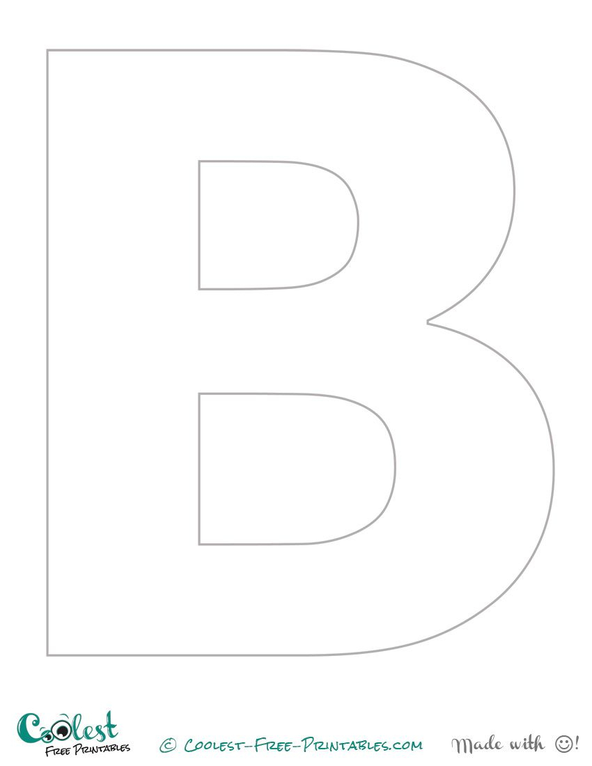 """Free Printable Stencil Letters - The Letter """"b"""" 