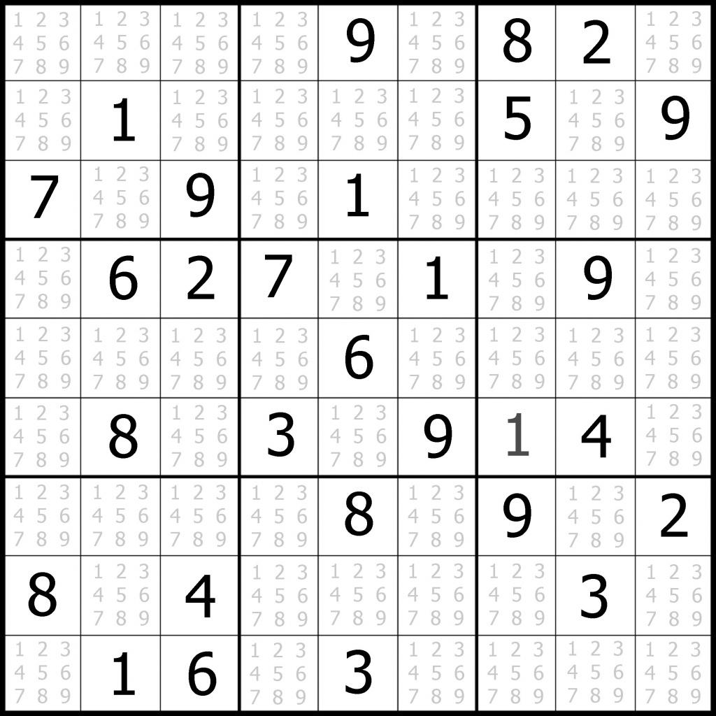 Free Printable Sudoku | Free Printable - Free Printable Sudoku 4 Per Page