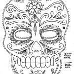 Free Printable Sugar Skull Day Of The Dead Mask. Could Use To Make   Free Printable Day Of The Dead Worksheets