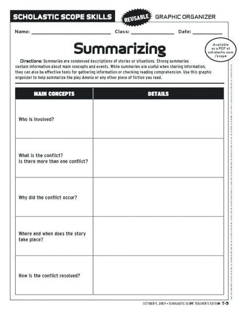 Free Printable Summarizing Worksheets 4Th Grade | Free Printable - Free Printable Summarizing Worksheets 4Th Grade