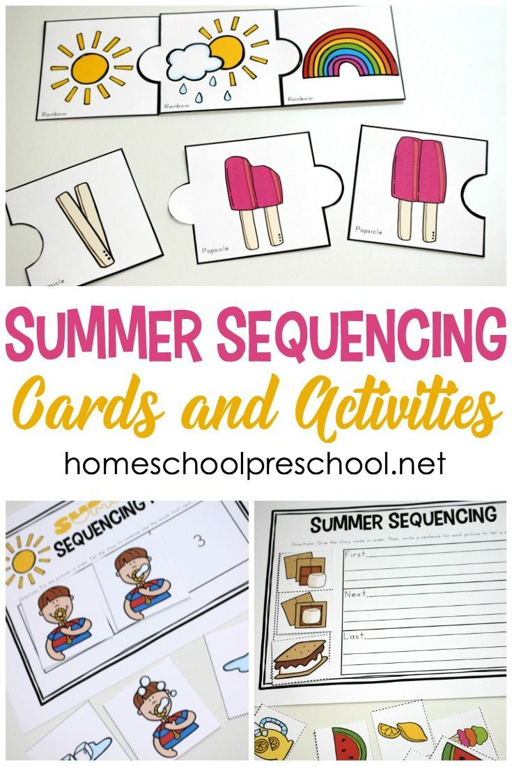 Free Printable Summer Sequencing Cards For Preschoolers   Free - Free Printable Sequencing Cards For Preschool