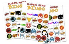 Free Printable Super Hero Bingo Party – Free Printable Superhero Pictures