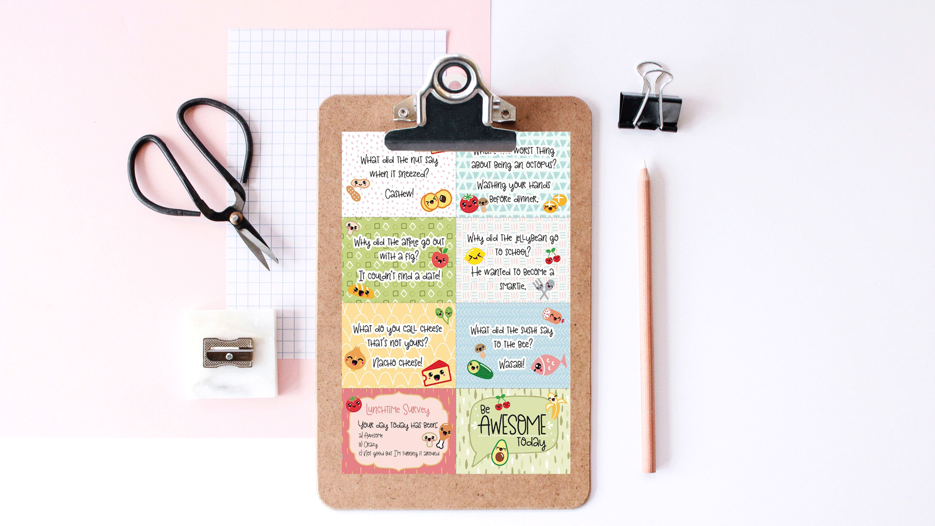 Free Printable Super-Kawaii Lunchbox Notes - Free Printable Australian Notes