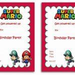 Free Printable Super Mario Bros Invitation | Free Printable   Free Printable Super Mario Bros Invitations