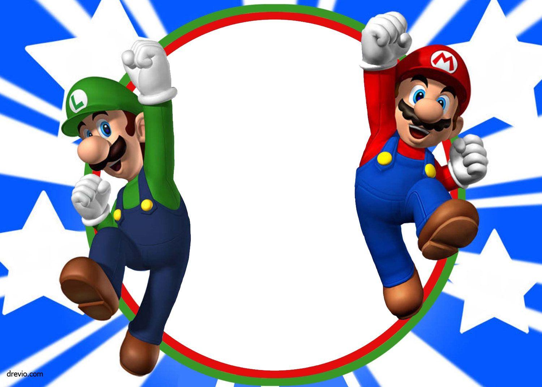 Free Printable Super Mario Bros Invitation | Mario Birthday - Free Printable Super Mario Bros Invitations