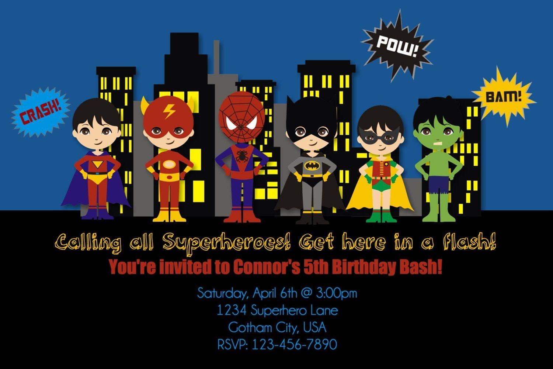 Free Printable Superhero Birthday Invitation Templates Create Your - Free Printable Superhero Birthday Invitation Templates