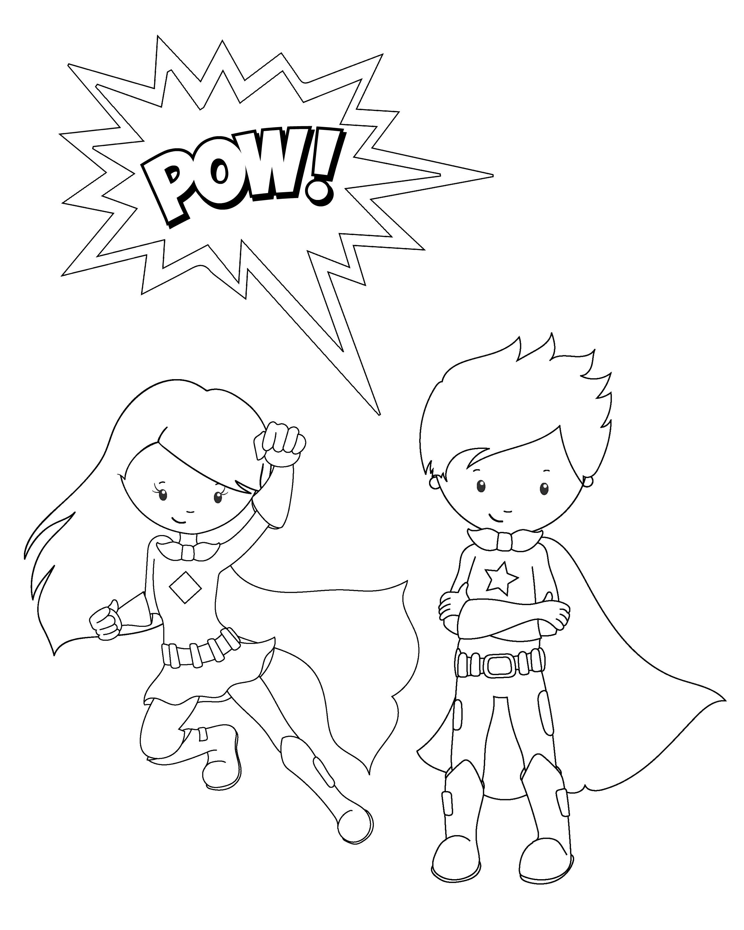 Free Printable Superhero Coloring Sheets For Kids   Summer Camp - Free Printable Superhero Coloring Pages