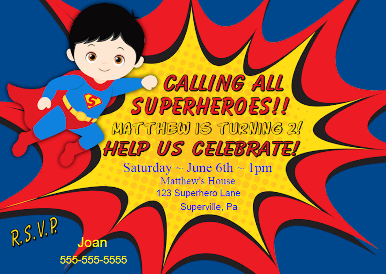 Free Printable Superhero Party Invitations Archives - Hashtag Bg - Free Printable Superman Invitations