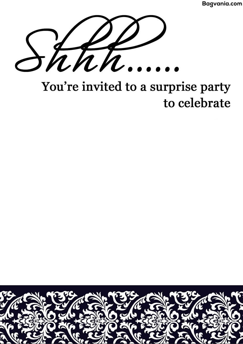 Free Printable Surprise Birthday Invitations – Bagvania Free - Free Printable Golf Stationary