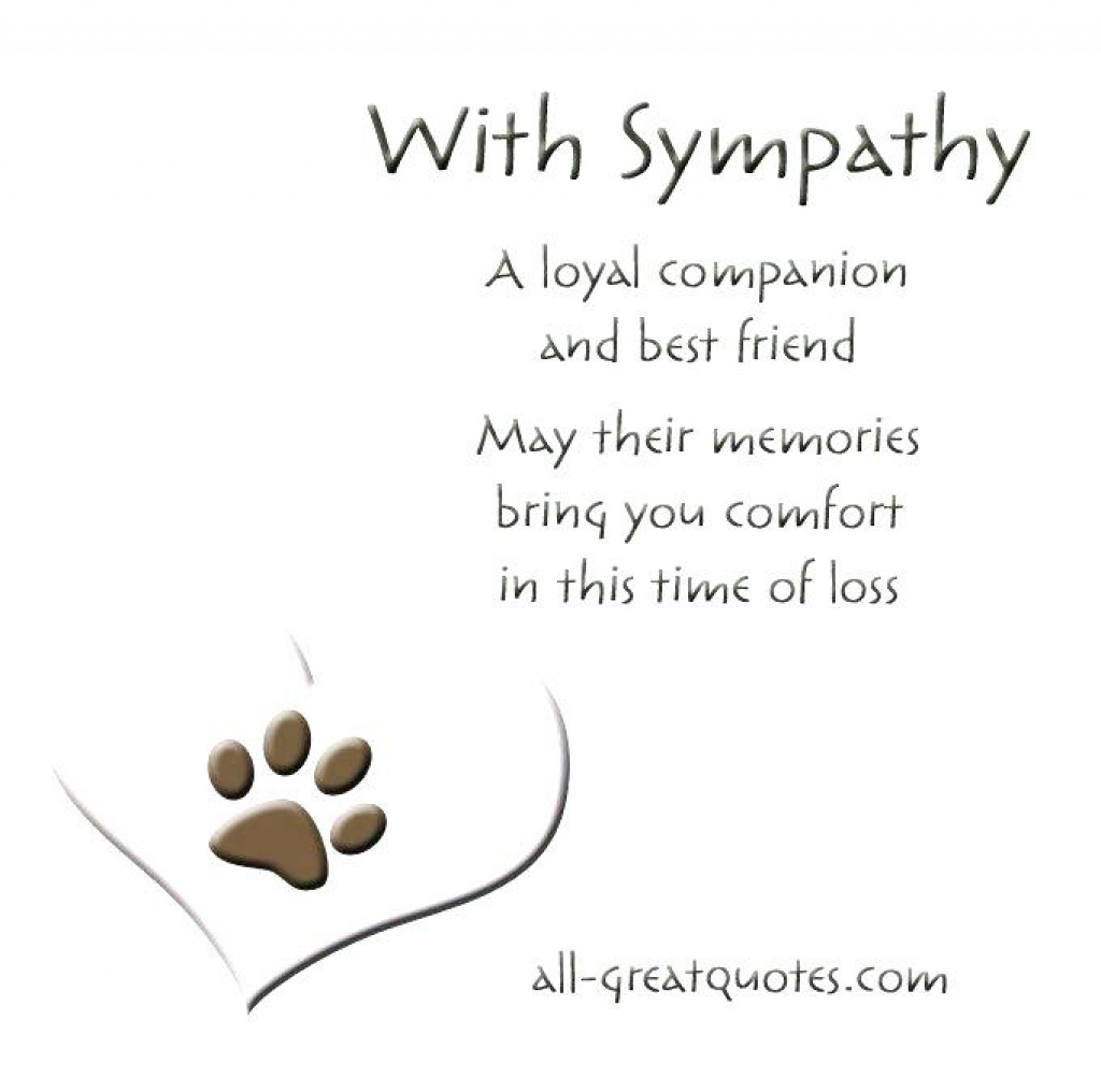 Free Printable Sympathy Cards – Davidbodner.co Within Free Printable - Free Printable Sympathy Cards