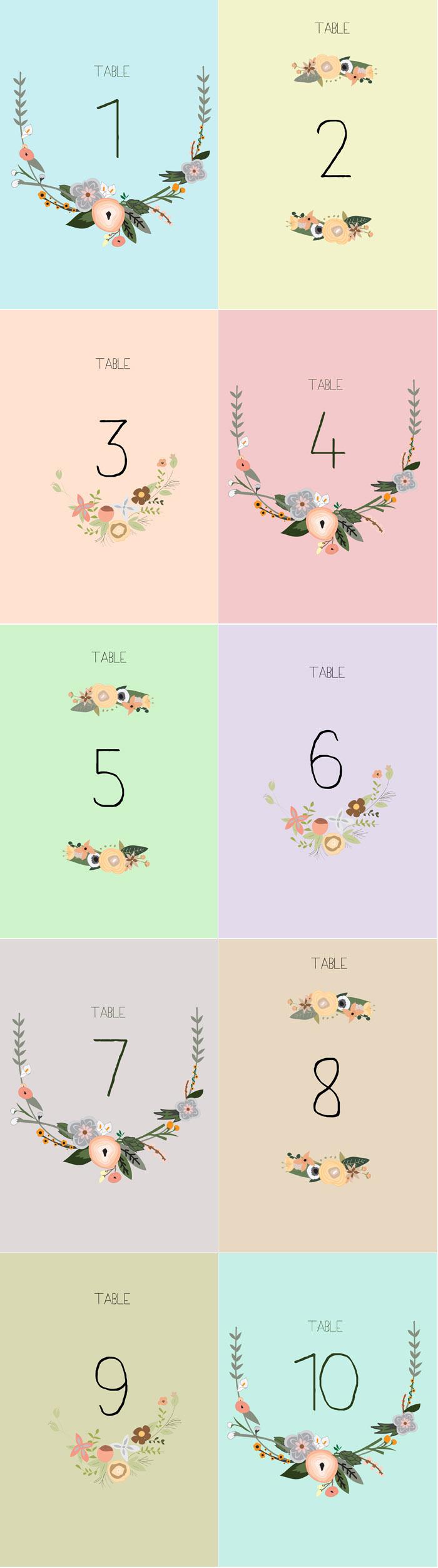 Free Printable Table Numbers - Free Printable Table Numbers 1 30