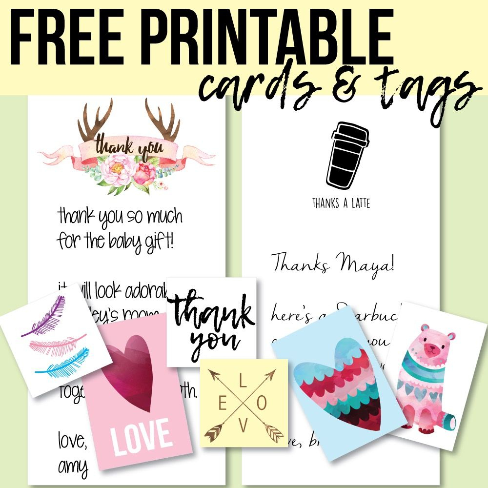 Free Printable Tags And Thank You Cards - Print It Baby | Creative - Free Printable Baby Shower Thank You Cards