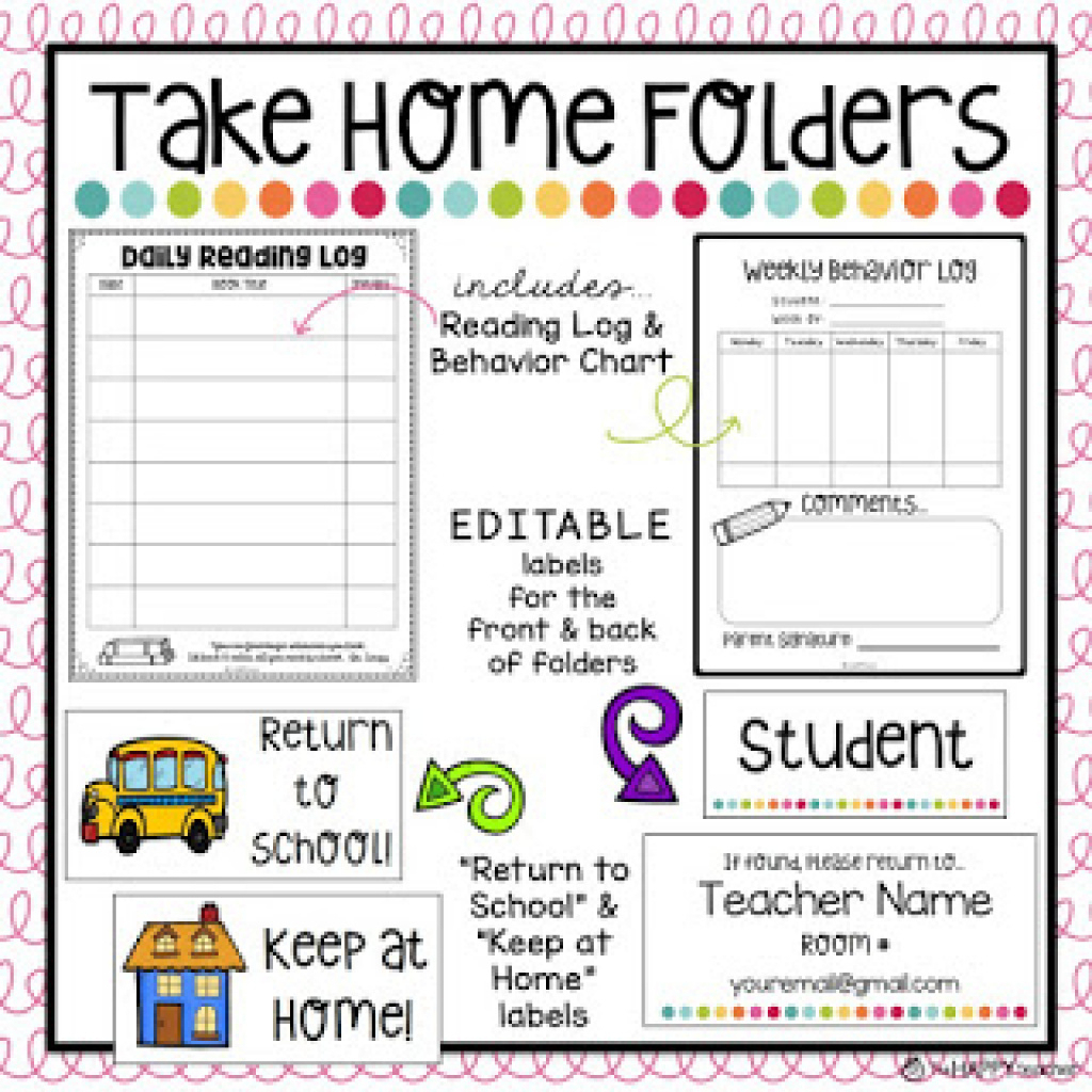 Free Printable Take Home Folder Labels | Free Printable - Free Printable Take Home Folder Labels