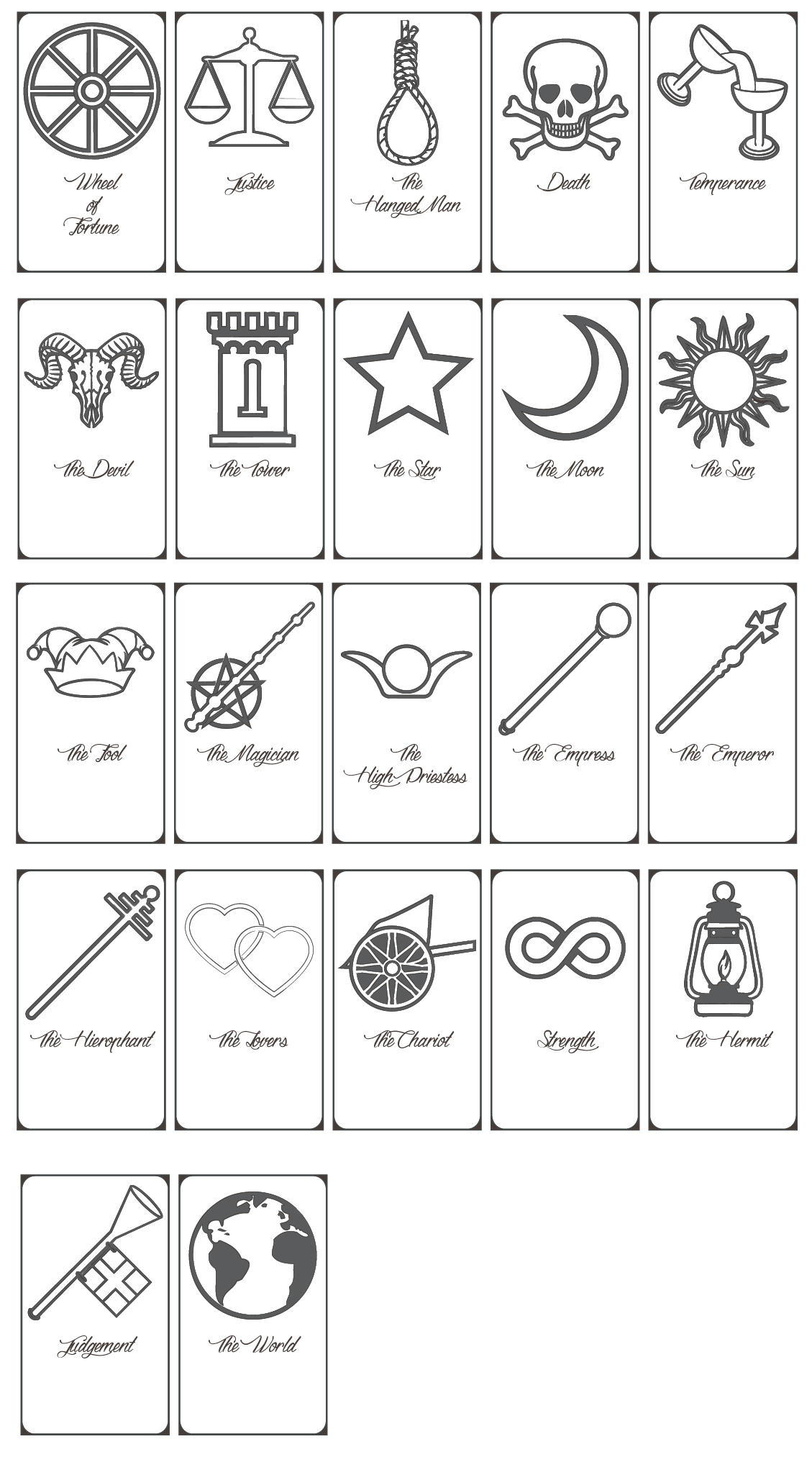 image relating to Free Printable Tarot Journal named Printable Tarot Playing cards Pdf Cost-free No cost Printable Down load