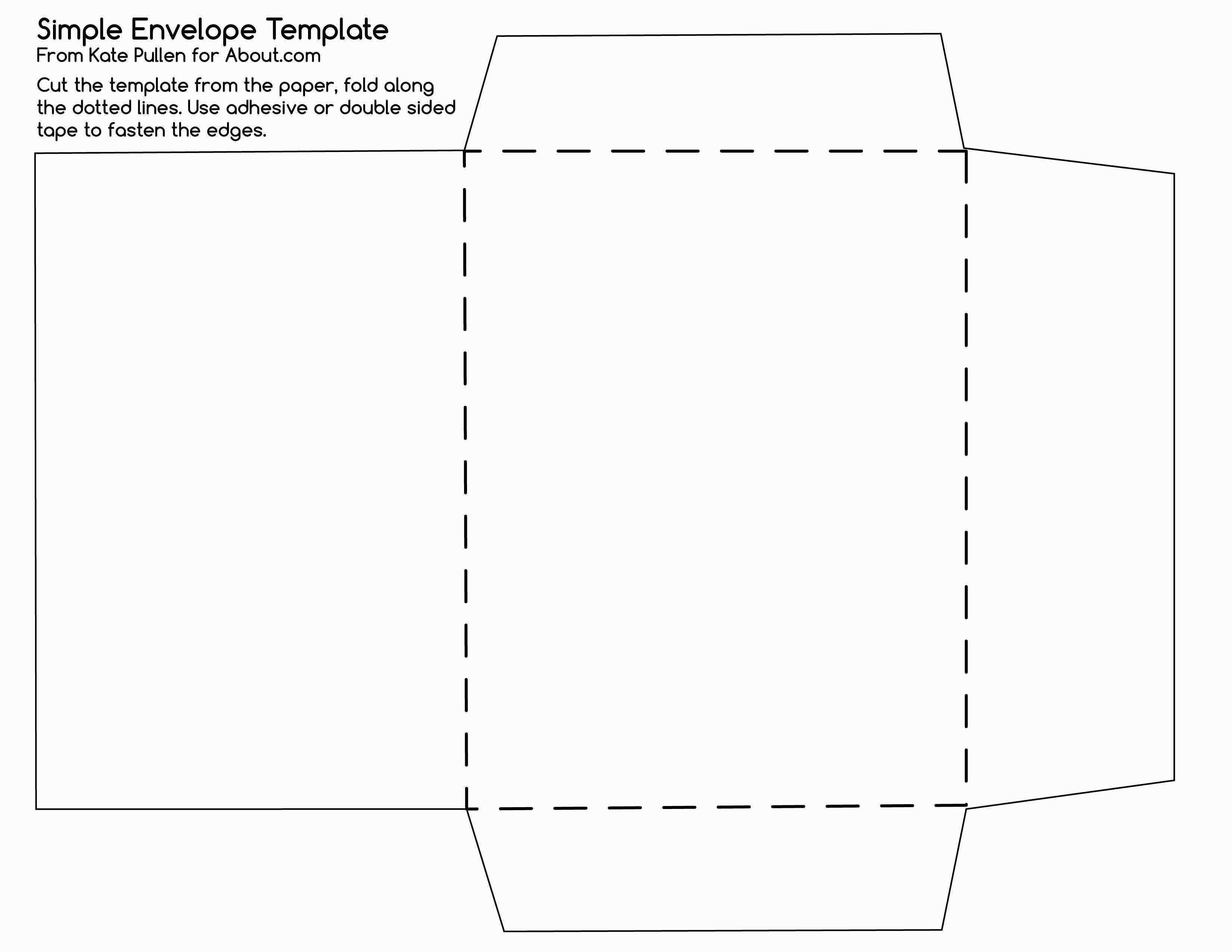 Free Printable Tea Bag Envelopes Inspirational How To Make Envelopes - Free Printable Greeting Card Envelope Template