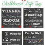 Free Printable Teacher Appreciation Chalkboard Gift Tags   Free Printable Tags For Teacher Appreciation