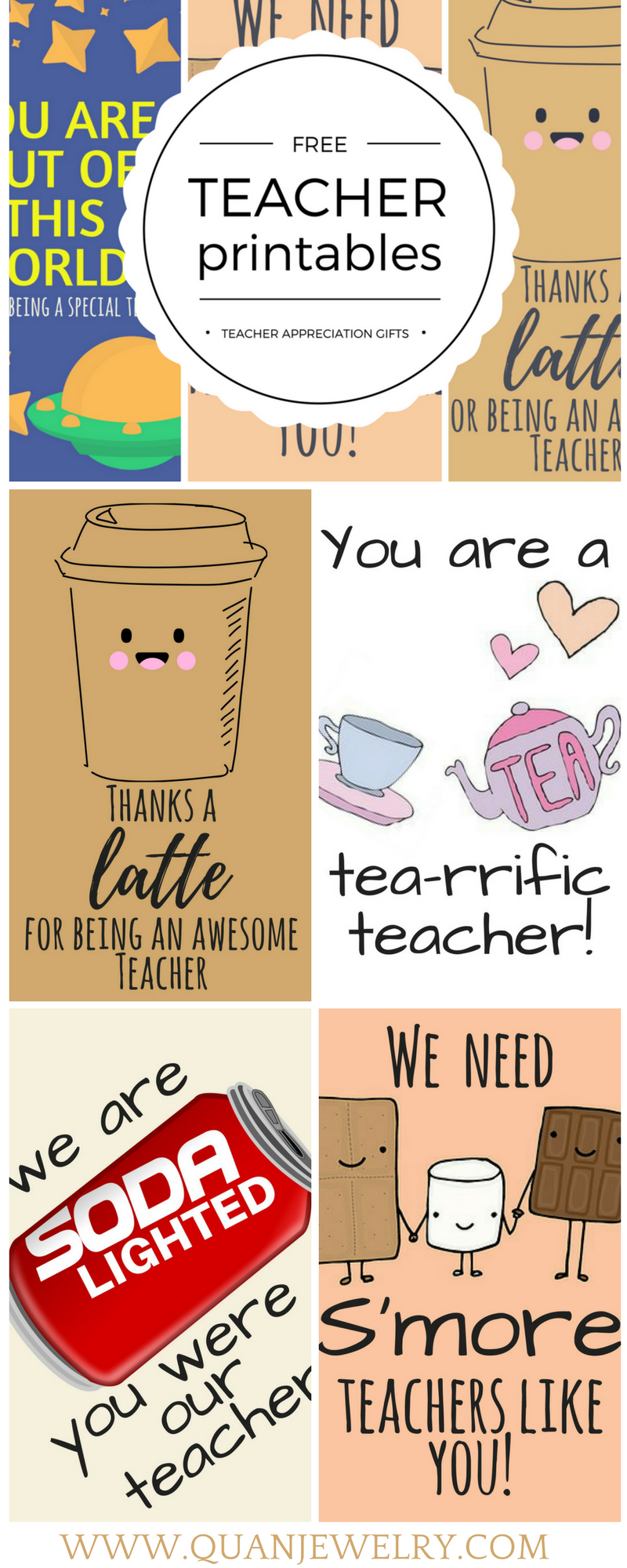 Free Printable Teacher Appreciation Thank You Cards   Teacher Gift - Free Teacher Appreciation Week Printable Cards