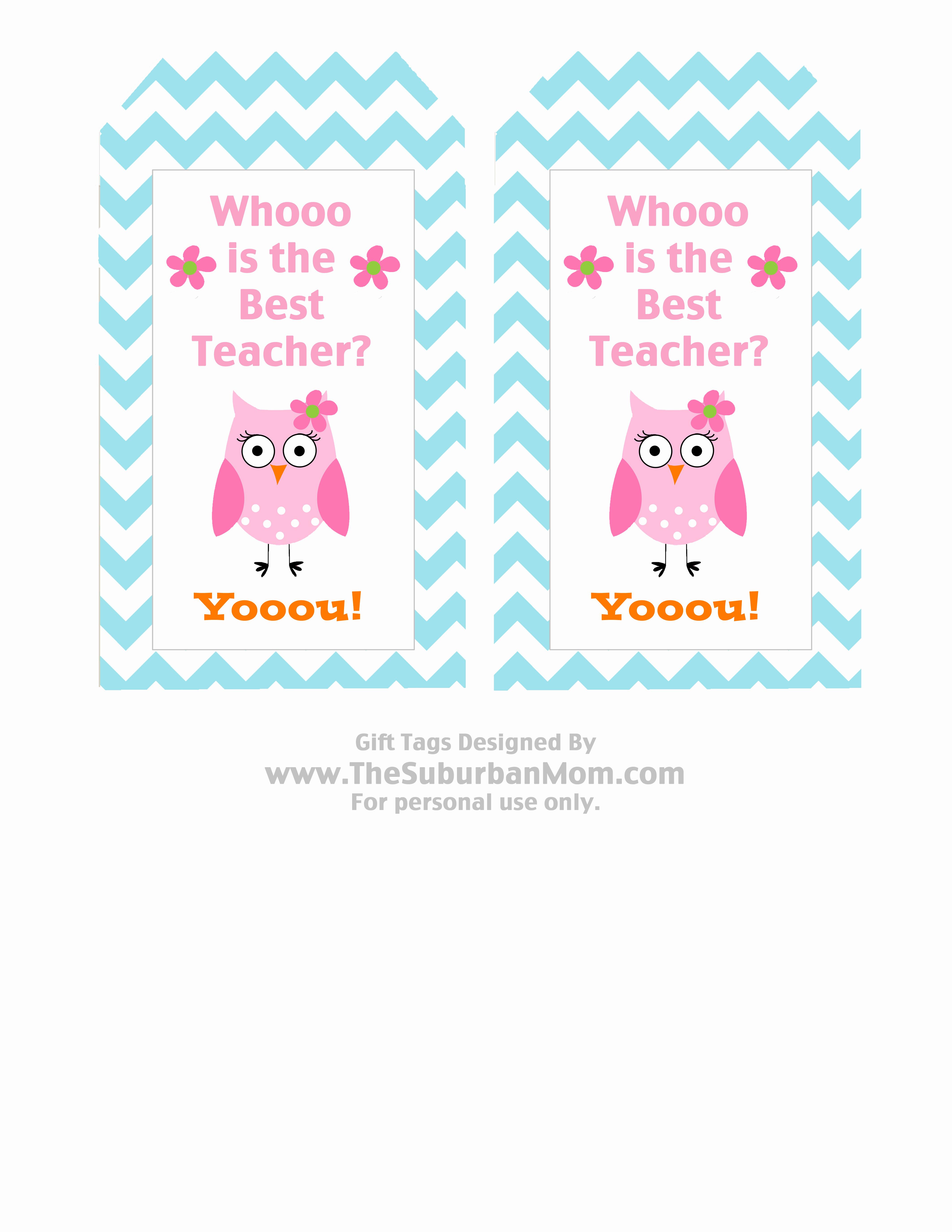 Free Printable Teacher Gift Tag Free Printables - Classy World - Free Printable Tags For Teacher Appreciation