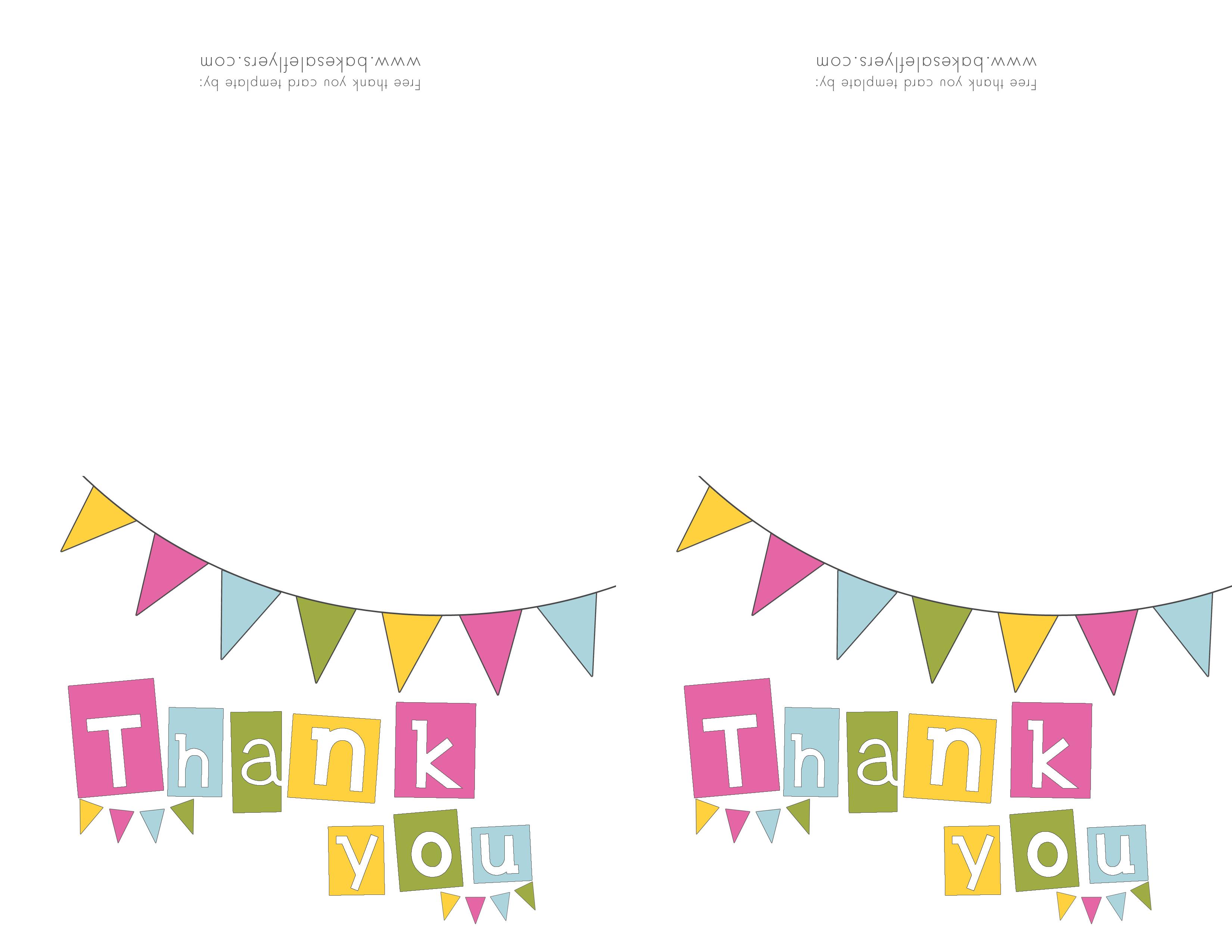 Free Printable Thank You Cards | Bake Sale Flyers – Free Flyer Designs - Free Printable Thank You Cards